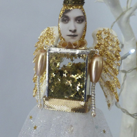 Gold Angel Christmas decoration