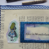 Alice inspired pvc make up bag, pencil case jewellery storage