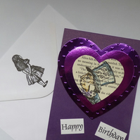 Hatter heart birthday card