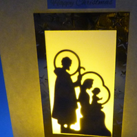 Mary Joseph & Jesus shadow Christmas card