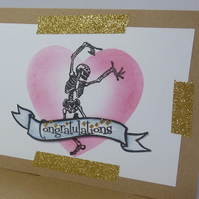 Heart skeleton Congratulations card