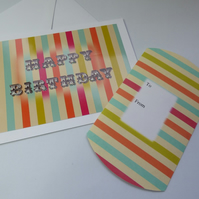 Stripe birthday card and pillow box