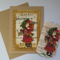 Father Christmas card and pillow box