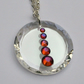 Purple colour Swarovski crystal element round pendant necklace