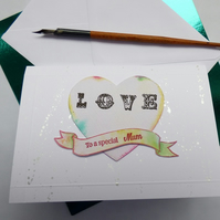 To a special mum Circus tattoo font card