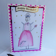 Fairy Godmother Birthday card
