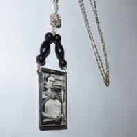 Frida Kahlo image shadow box necklace