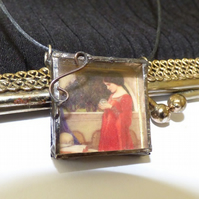 3D art necklace Waterhouse The Crystal Ball shadow box necklace pendant