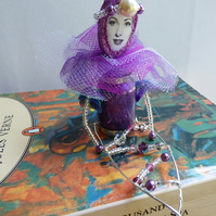 Purple mermaid hanging keepsake