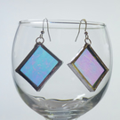 Drop earrings iridescent ab