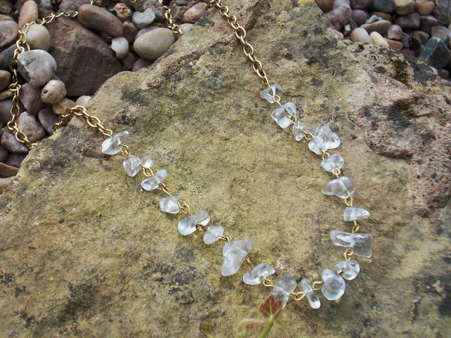 Glass chip necklace