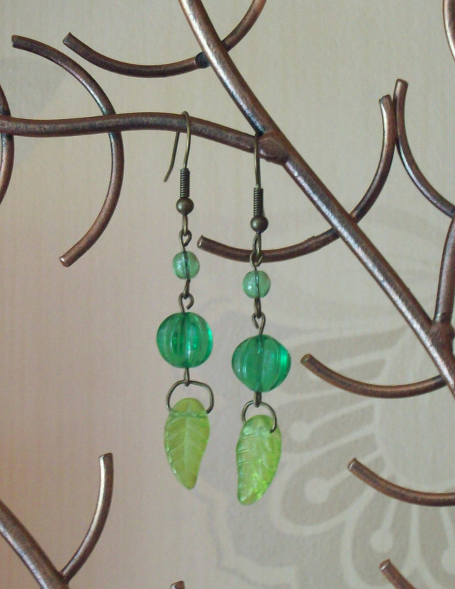 Sale- Spring green earrings