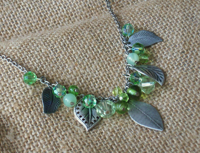 Summer leaves necklace