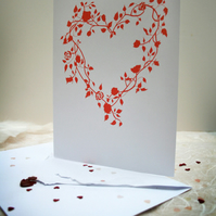 Heart of Roses --- Greetings Card