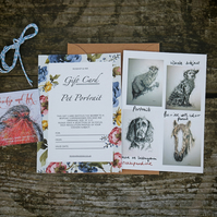"Pet Portrail Gift Card (for illustration size 10""x8"")"