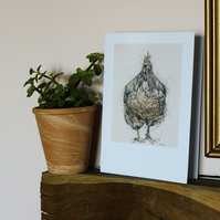 Cockerel, A5 Large Greeting Card