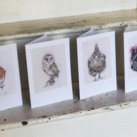 Animal Greeting Card Pack, Pick 4, Large A5