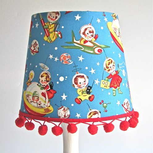Rocket rascals handmade table lampshade (small)