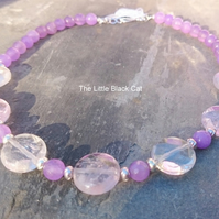 'Lilac Lace' Faceted Ametrine and Quartz Gemstone Necklace
