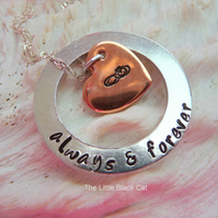 'Always & Forever' Hand Stamped Pendant with Chain