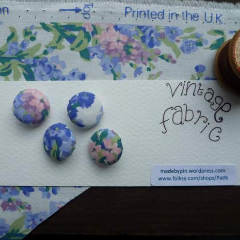 Buttons covered with Laura Ashley fabric