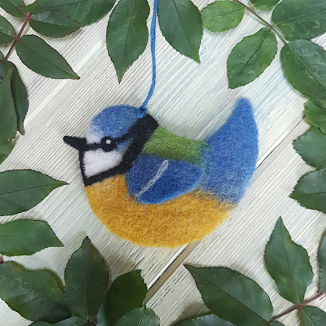 Bonnie the Needle Felted Blue Tit