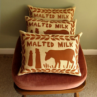 Chocolate Malted Milk Screen Printed Cushion