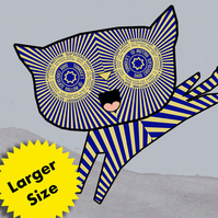 Larger Size Tunnock's Teacake Kitten - Digital Print