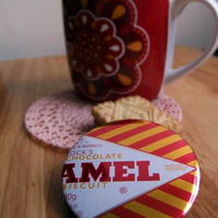 Tunnock's Caramel Wafer Pin Badge