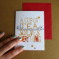 Cup of Tea Greetings Card