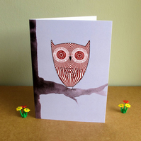 Teacake Owl Greetings Card