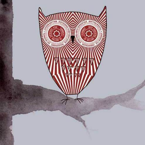 Tunnock's Teacake Owl - Original Digital Print