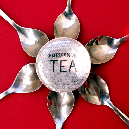 Emergency Tea Pin Badge