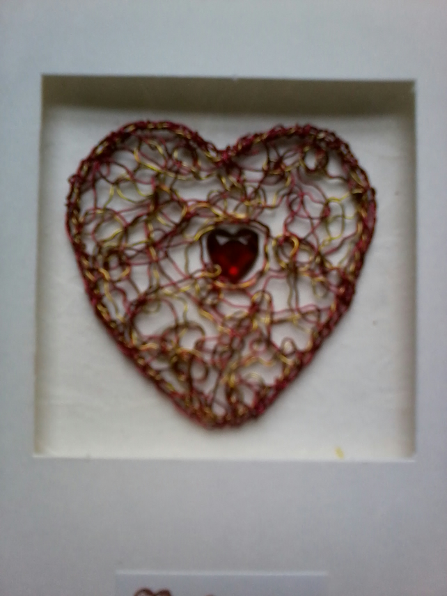 Ruby Wedding heart 2