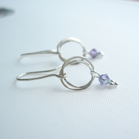 Circles Drop Earrings Purple