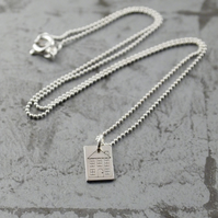 Little House Silver Pendant and chain