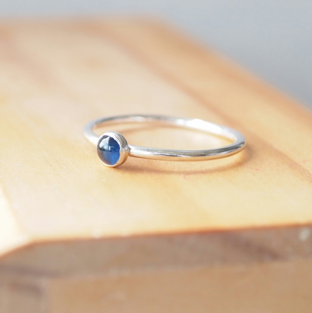 Sapphire Stacking Ring in Silver