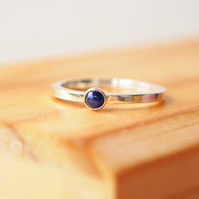 Sapphire Stacking Silver Ring