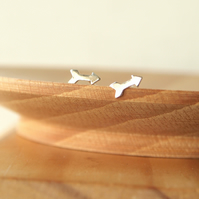 Silver Arrow Studs, Arrow Earrings,