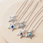 Birthstone Star pendants in Sterling Silver