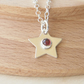 Garnet and Sliver Star Pendant