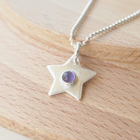 Amethyst Star Pendant in Sterling Siver