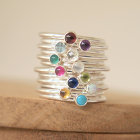 Birthstone Stackers - Choose your own Birthstone