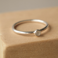 Moonstone Silver Ring with June Birthstone