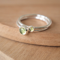 Peridot Double Ring Set