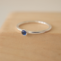 Lab Sapphire Stacking Ring with September Birthstone