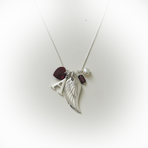 January personalised birthstone necklace