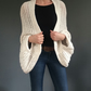 Chunky knits, Oversized cardigan, cotton and banana yarn kimono style cardigan,