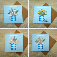 Cornishware cards set