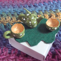 Acorn fairy tea set